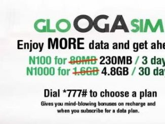 Glo Oga SIM Gives new and existing customers 125% data bonus