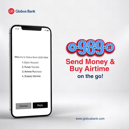 globus bank ussd coded
