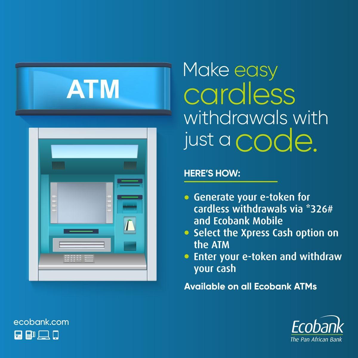 Eco Bank Cardless Withdrawal