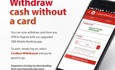 UBA Cardless Withdrawal – How To withdrawal Money from ATM Machine Without Naira debit Card