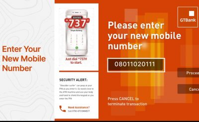 gtbank account update