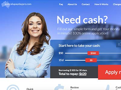 List Payday loans and Short Term Loans lenders in Australia