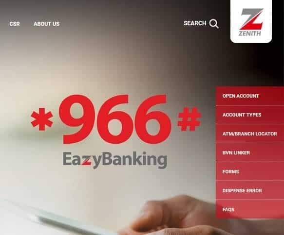 zenith bank ussd