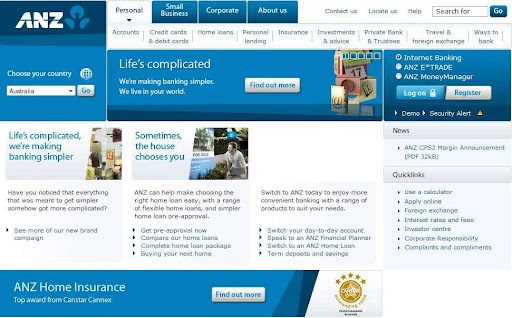 anz bank online banking and mobile app